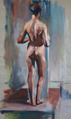 Petr Mucha - figurální studie - Stojící mladý muž