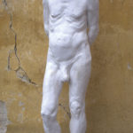 Petr Mucha - studie v plastice - Václav - 2011 - 30 x 30 x 80cm - sádra - levý přední poloprofil