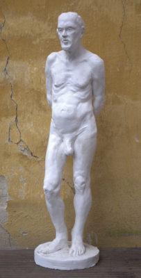 Petr Mucha - study plastic - Václav - 2011 - 30 x 30 x 80cm - plaster - front left semi profile
