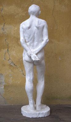 Petr Mucha - study plastic - Václav - 2011 - 30 x 30 x 80cm - plaster - back view