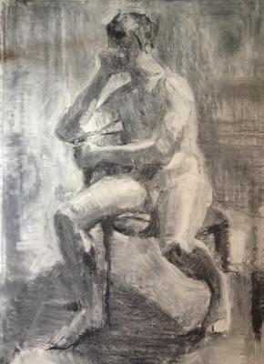 Petr Mucha, Sedící mladý muž